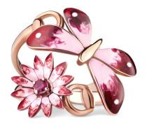 Ring Gucci Flora in Roségold mit Email und Rubinen