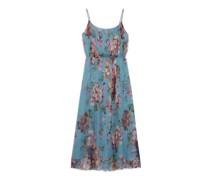 2015 Re-Edition kleid aus Chiffon mit Blumen-Print