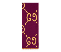 Schal aus GG Jacquard aus Wolle und Seide