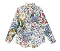 Übergroßes Hemd mit New Flora-Print