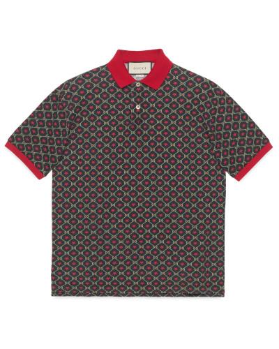 Übergroßes Poloshirt mit GG Sternen-Print