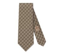 Krawatte mit GG-Muster aus Gewebe