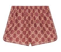 Shorts aus Seide mit GG Supreme-Print