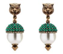 Feline-Ohrringe mit Kristallen