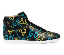 High-Top Damen-Sneaker mit GucciGhost Print