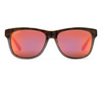 Rechteckige Sonnenbrille aus Biokunststoff, exklusiv online