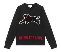Pullover aus Baumwolle mit Panther
