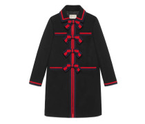Mantel aus Wolle mit Web-Schleifen
