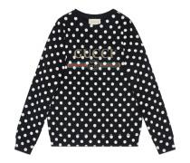 Sweatshirt mit gepunktetem Print und Logo