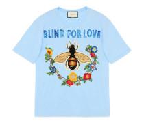 T-Shirt aus Baumwolle mit Stickereien