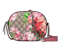 Mini-Tasche Blooms GG Supreme mit Kette