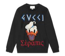 Pullover aus Baumwolle mit Donald Duck-Applikation