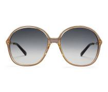 Sonnenbrille mit rundem Rahmen aus Optyl