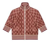Jacke aus Seide mit GG Supreme-Print