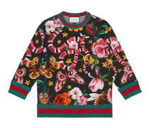 Pullover mit exklusivem Gucci Garden-Print