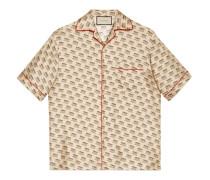 Bowling-Shirt mit Gucci Invite-Stempel-Print