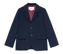 Kinder Jacke aus Baumwolle und Wolle mit Punktemuster