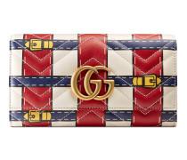 Lange Brieftasche GG Marmont mit Trompe-L'oeil-Print