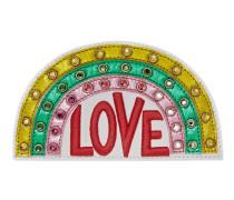Regenbogen-Applikation aus Leder mit Stickerei