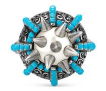 Ring mit Stacheln und Perlen