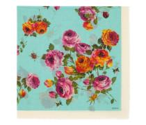 Schal aus Wolle und Seide mit Rosen-Print