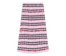 Faltenrock aus Seide mit Gucci Print