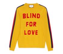 """Pullover aus Wolle mit """"Blind for Love"""" und Wolf"""