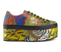 Plateau-Sneaker aus Tiger-Jacquard