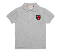 Kinder Poloshirt aus Baumwolle mit Stern und Webstreifen