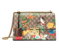 Schultertasche mit Gucci Tian Muster und Vorhängeschloss