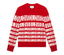 "Pullover aus Wolle und ""Loved""-Jacquard"