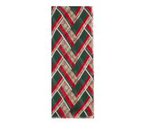 Schal aus GG Seide und Modal mit Chevron-Print