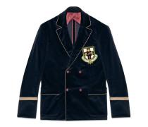 Cambridge Jacke aus Samt mit Wappen