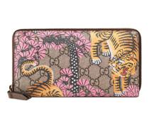 Brieftasche mit Rundumreißverschluss und Gucci Bengal-Print