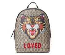 Rucksack aus GG Supreme mit Böse Katze-Print