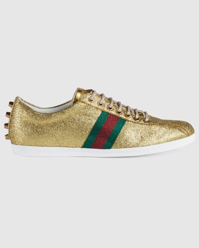 gucci herren sneaker mit glitzer und webdetail reduziert. Black Bedroom Furniture Sets. Home Design Ideas