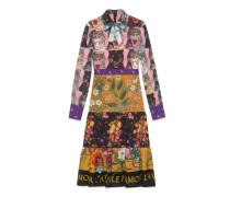 Kleid aus Viskose mit Patchwork-Print