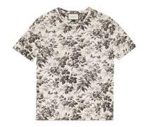 T-Shirt aus Baumwolle mit Herbarium-Muster