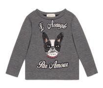 Kinder Pullover aus Baumwolle mit Hund