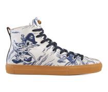 Hoher Sneaker mit Seesturm-Print