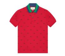 Poloshirt aus Baumwolle mit Panthern