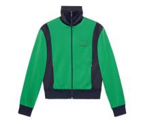Jacke aus technischem Jersey mit Tiger-Patch