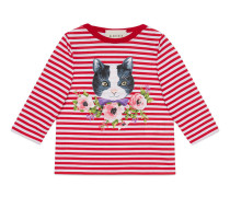 Baby Hemd mit Katzen- und Blumen-Print