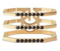 Ring aus Gold mit schwarzen Diamanten