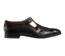 Brogue-Schuh aus Leder mit Cut-out