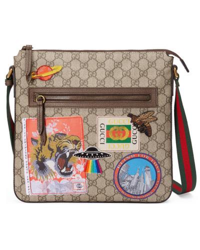 Gucci Herren Gucci Courrier Umhängetasche aus weichem GG Supreme Rabatt Bilder 185C58c