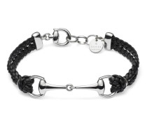 Armband aus Leder mit Horsebit