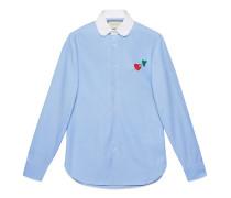 Hemd aus Baumwolle mit Durchstochenes Herz-Motiv