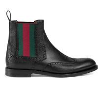 Stiefel aus Leder mit Webdetail