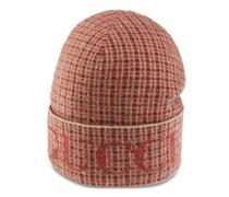 Mütze aus karierter Wolle mit Logo